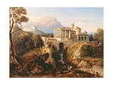 A Grecian Temple Giclee Print by William Crouch