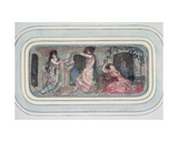 Two Female Figures Dancing in a Room, Another Reclining Giclee Print by Charles Edward Conder