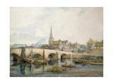 Bedford Bridge, Bedford Giclee Print by William Henry Pyne