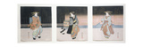 Geisha at Night Triptych, 1818-30 Giclee Print by Toyokuni II