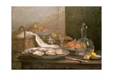 Still Life with Oysters, C.1850 Giclee Print by Eugène Boudin