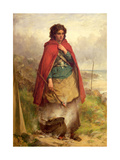 A Highland Gypsy, 1870 Giclee Print by Thomas Faed