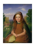 A Girl, 1861 Giclee Print by E.T. Davies