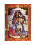 Mourning Trinity (Throne of God) Giclee Print by  Master of Flemalle