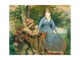 The Donkey Ride, 1880 Giclee Print by Eva Gonzales