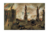 The Great Fire of London in the Year of 1666 Giclee Print by Jan The Elder Griffier