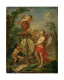 Cupid Sharpening His Arrow, 1750 Lámina giclée por Charles Joseph Natoire