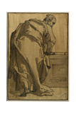 A Heavily Draped Apostle Seen from Behind, 16th Century Giclee Print by Taddeo Zuccaro