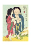A 'Shunga' (Erotic) Print, from 'Manpoku Wago-Jin': Mrs. Woman and Mr. Man, 1821 Giclee Print by Katsushika Hokusai