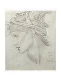 Study for Nimue for 'Merlin and Nimue', 1870 Giclee Print by Sir Edward Coley Burne-Jones