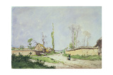 No.1534 a Village Road, Oiseme, 1888 Giclee Print by Henri-Joseph Harpignies