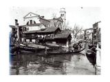 San Trovaso Boatyard Giclee Print
