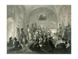 Persian Mosque at Yerevan, Armenia, a Night During Ramadan, Plate 19 from a Book on the Caucasus,… Giclee Print by Grigori Grigorevich Gagarin