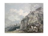 No.1187 the Castle Rock, Edinburgh, C.1793 Giclee Print by Thomas Girtin
