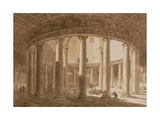Interior of the Temple of Claudius in Rome, C.1800 Giclee Print by Agostino Tofanelli