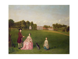 The Cropp Family of Shudy Camps Park, Cambridge, 1759 Giclee Print by Arthur Devis