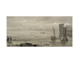 Seashore Study: Low Tide, with Fishing Boats and Fisherfolk, 19th Century Giclee Print by William Collins