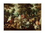 Orpheus Charming the Animals Giclee Print by Jacob Bouttats