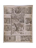 Quos Ego, Neptune Calming the Storm, with Borders Showing Further Scenes from Virgil's 'Aeneid',… Reproduction procédé giclée par  Raphael