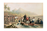 The Return of the Rev. John Williams at Tanna in the South Seas, the Day before He Was Massacred Giclee Print by George Baxter