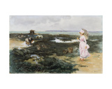 On the Beach Giclee Print by Ernest Ange Duez