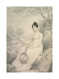 Portrait of a Lady, 1806 Giclee Print by Henry Edridge
