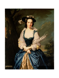 Portrait of Lady Mary Stewart (1720-51) Wife of Kenneth Mackenzie, Lord Fortrose, 1749 Giclee Print by Allan Ramsay