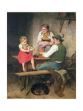 The Happy Family Giclee Print by Adolf Eberle