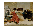 The Winnowers, 1855 Giclee Print by Gustave Courbet