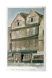 House in Holywell Street, the Strand, 1871 Giclee Print by Charles James Richardson