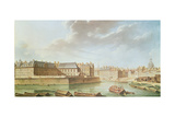 The Ile Saint-Louis and the Hotel De Bretonvilliers in 1757 Giclee Print by Nicolas & Jean Baptiste Raguenet