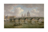 Blackfriars Bridge and St. Paul's Cathedral, C.1762 Giclee Print by William Marlow