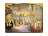 Her Most Gracious Majesty Queen Victoria (1819-1901) Receiving the Sacrament at Her Coronation,… Giclee Print by George Baxter