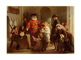 Children in the Tower of London Giclee Print by George Bernard O'neill