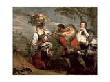 Peasants Going to Market Giclee Print by Peter Paul and Snyders, Frans Rubens