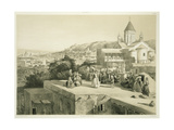 The Terraces of Tiflis, Georgia, Plate 34 from a Book on the Caucasus, Engraved by Laurens,… Giclee Print by Grigori Grigorevich Gagarin