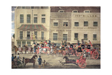West Country Mails at the Gloucester Coffee House, Piccadilly, Engraved by C. Rosenberg, 1828 Giclee Print by James Pollard