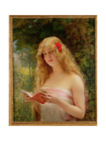 La Belle Liseuse (The Beautiful Reader) Giclee Print by Leon Francois Comerre