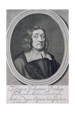 Portrait of John Pordage (1608-98) Giclee Print by William Faithorne