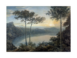Lake Albano and Castel Gandolfo Giclee Print by John Robert Cozens