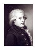 Portrait of Wolfgang Amadeus Mozart (1756-91) Austrian Composer, Engraved by Lazarus Gottlieb… Giclee Print by Johann Heinrich Wilhelm Tischbein
