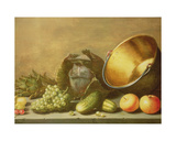 Still Life with a Brass Pot Giclee Print by Floris van Schooten
