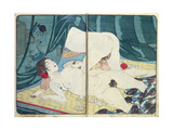 A 'Shunga' (Erotic) Print: 'All Passion Spent - the Satisfied Woman', C.1855 Giclee Print by Kuniyoshi Utagawa