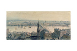 View of London from Monument Looking South, 1848 Giclee Print by Carl Haag