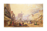 Maidstone High Street from Gabriel's Hill, 1829 Giclee Print by George Sidney Shepherd