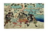 The 'Chushingura' (The Story of the Forty Seven Ronin - Masterless Samurai); a Scene from Act II… Giclee Print by Utagawa Kuniyoshi