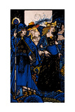 """The Queens of Sheba, Meath and Connaught"" Illustration by Harry Clarke from 'Queens' by J.M. Synge Giclee Print by Harry Clarke"