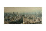 View of London from Monument Looking North, 1848 Giclee Print by Carl Haag