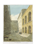 The Press Yard, Newgate Prison Giclee Print by Frederick Nash