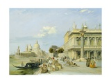 View of the Dogana and Santa Maria Della Salute from the Piazzetta, Venice Giclee Print by Edward Pritchett